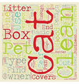 Perfect Cat Box For Your Cat text background vector image vector image