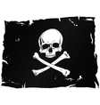 Pirate flag with skull vector image vector image