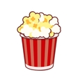 Popcorn Cinema Icon on White Background vector image vector image