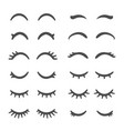 pretty woman eyelashes closed eyes for cute vector image vector image