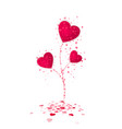 red heart flower symbol of love valentines day or vector image