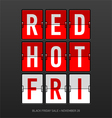Red Hot Black Friday Sale vector image vector image