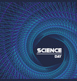 science day modern concept background vector image