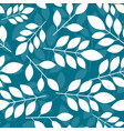 seamless botanical pattern with white leaves on a vector image vector image