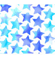 seamless watercolor stars pattern vector image vector image