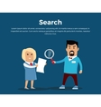 Searching Concept Banner Flat vector image vector image
