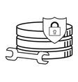 security padlock support cartoon vector image