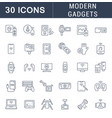 set line icons modern gadgets vector image vector image
