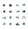 set of audio icons vector image vector image