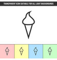 simple outline transparent ice cream icon vector image