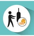 sport man boxing nutrition health vector image