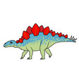 stegosaurus dinosaur vector image vector image