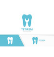 tooth and repair logo combination dental vector image