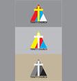 Triniti church logo vector image vector image