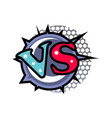 versus logo in cartoon style vector image vector image