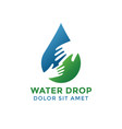 water drop graphic design template vector image vector image