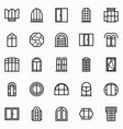 window icons set vector image vector image