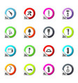 work tools icons set vector image vector image