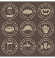 Collection of grunge vintage retro bakery and vector image