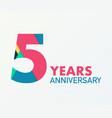 5 years anniversary emblem anniversary icon