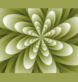 abstract optical flower background vector image vector image