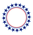 american stars round frame logo symbol vector image vector image