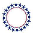 american stars round frame logo symbol vector image