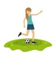 athlete avatar design vector image vector image