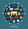 auto service design concept vector image vector image