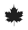autumn leaf black silhouette icon isolated white vector image