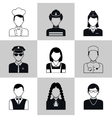 Avatar icons black set vector image vector image