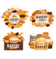 bakery shop cakes patisserie pastry desserts vector image vector image