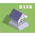 Bank finance money flat 3d web isometric vector image