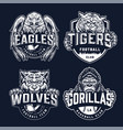 baseball and football teams sport logos vector image