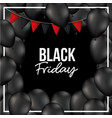 black friday background with red festoons and vector image vector image