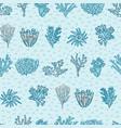 blue red coral geometric kids ocean aqua vector image vector image