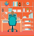 business woman working in home office vector image vector image