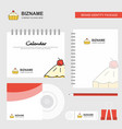 cake logo calendar template cd cover diary and vector image vector image