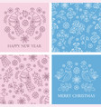 card pattern set merry christmas vector image