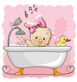 chicken in the bathroom vector image