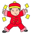 Chracter Chinese With Red Clothes vector image