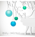 Christmas background with deer vector image vector image