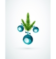 Christmas tree branch toy New Year Concept vector image