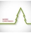 Christmas tree in flat style on white background vector image vector image