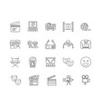cinema equipment line icons signs set vector image vector image