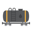 cistern oil train flat icon logistic and delivery vector image