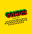 comics style font design alphabet letters and vector image