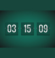 countdown timer clock counter flip timer vector image