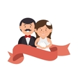 couple just married character vector image