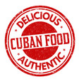 cuban cuisine grunge rubber stamp vector image vector image
